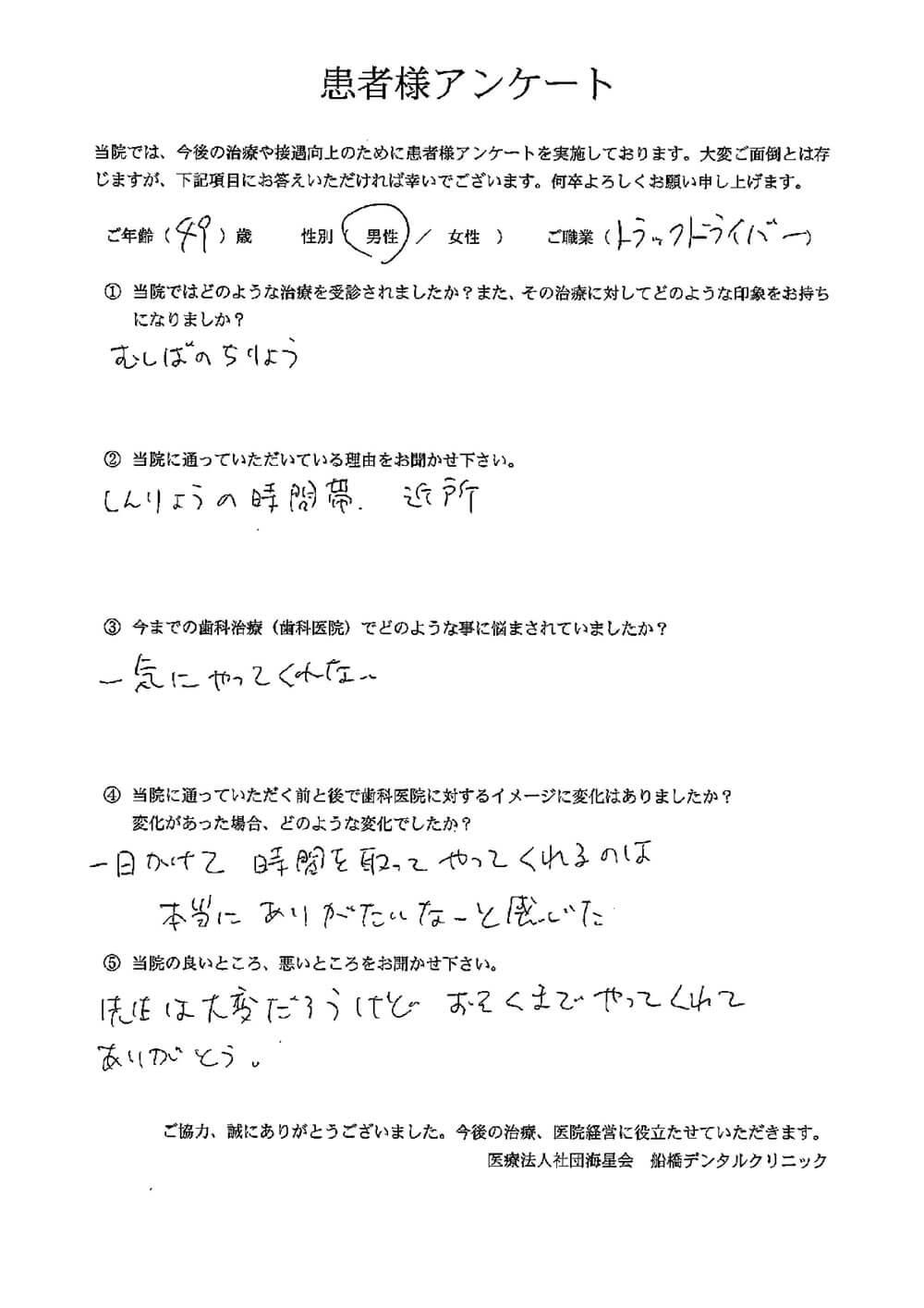 船橋デンタルクリニックの口コミ・評判アンケート7
