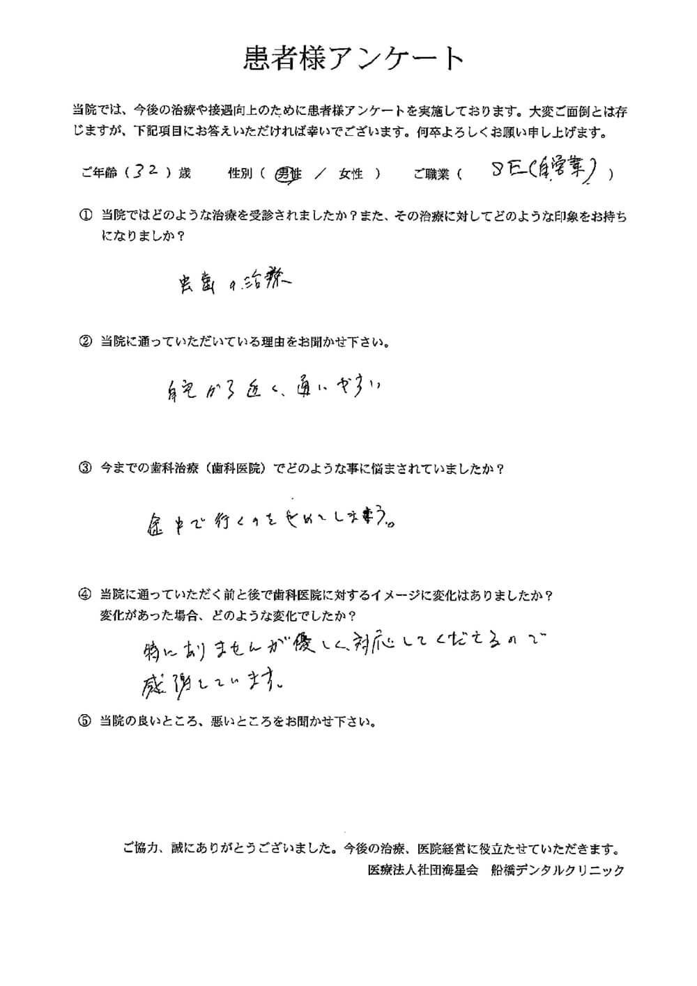 船橋デンタルクリニックの口コミ・評判アンケート8
